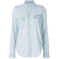 Frame Camisa Jeans 'military' - Azul