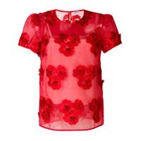 P.a.r.o.s.h. Blusa Com Bordado Floral - Vermelho