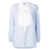 Jorge Vazquez Pleated Bib Striped Shirt - Azul