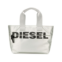 Diesel Bolsa tote 'F-Bold' - Prateado