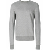 Calvin Klein Jeans Moletom Com Logo - Cinza
