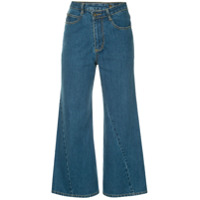Ground Zero Calça Jeans Cropped - Azul