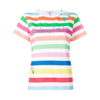 Mira Mikati Camisa Listrada Com Estampa Gráfica - Branco