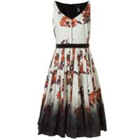 Marc Jacobs Vestido Midi Floral Evasê - Neutro