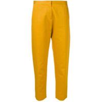 Marni Calça De Alfaiataria Cropped - Amarelo
