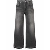 John Elliott Calça Jeans Cropped - Preto