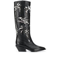 A.f.vandevorst Palm Tree Patterned Boots - Preto