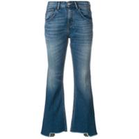 Haikure Calça Jeans Flare Cropped - Azul