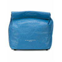 Simon Miller Bolsa Clutch De Couro - Azul