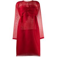Nº21 Vestido Mini Com Laço Nas Costas - Vermelho