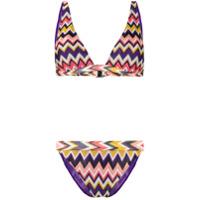 Missoni Mare Zigzag Pattern Bikini - Roxo