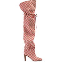 Gucci Gg Canvas Over-The-Knee Boot - Vermelho