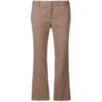 Alberto Biani Grid Patterned Cropped Trousers - Neutro