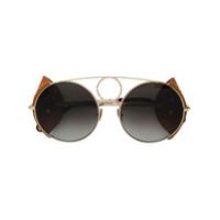 Chloé Eyewear Óculos De Sol 'sierra' - Metálico