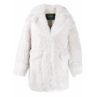 Blancha Short Shearling Coat - Branco