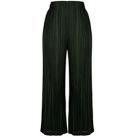 Pleats Please By Issey Miyake Pinstripe Cropped Trousers - Preto