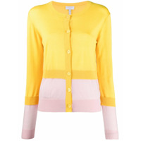 Escada Sport Layered Colour-Block Cardigan - Amarelo