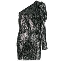 Alexandre Vauthier Vestido Mini Com Textura - Prateado