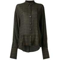 Palmer / Harding Checked Button-Down Shirt - Verde