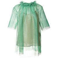 Stella Mccartney Blusa Translúcida Com Franzido - Green