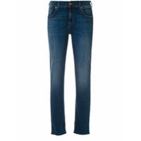 7 For All Mankind Calça Jeans Skinny Desfiada - Azul