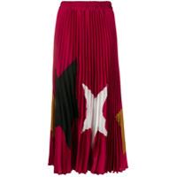 Shirtaporter Saia Plissada Com Estampa De Estrela - Rosa