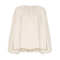 Toteme Blusa Com Mangas Volumosas 'pomerance' - Branco