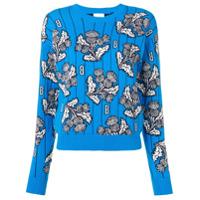Barrie Suéter Floral - Azul