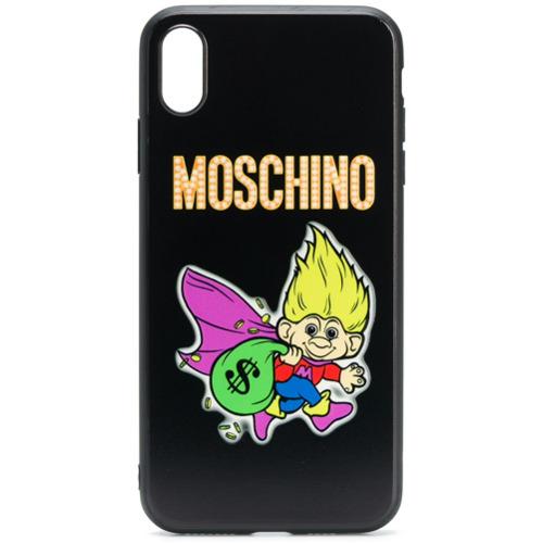 Moschino Capa para iPhone iphone XS Max - Preto