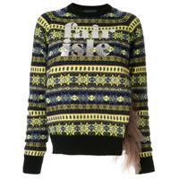 Kolor Logo Print Knit Sweater - Azul