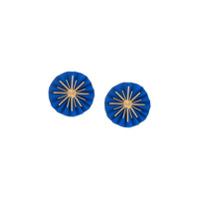 Katerina Makriyianni Par De Brincos Star - Azul