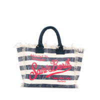 Mc2 Saint Barth Logo Striped Tote - Azul