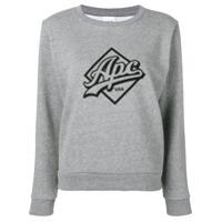 A.p.c. Suéter Kimberley Com Estampa De Logo - Cinza