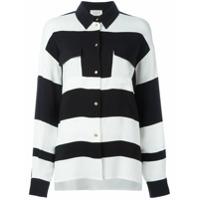 Lanvin Camisa Listrada - Preto