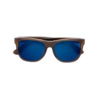 Retrosuperfuture Óculos De Sol Quadrado - Marrom