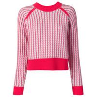 Barrie Suéter Com Detalhe Contrastante - Cinza