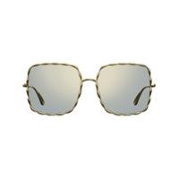 Elie Saab Óculos De Sol Quadrado - Metálico