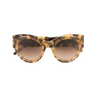 Pomellato Eyewear Óculos De Sol Redondo Em Acetato - Marrom