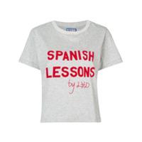 Lhd Camiseta Com Estampa De Slogan - Cinza