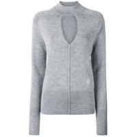 Chloé Spliced Neck Sweater - Cinza