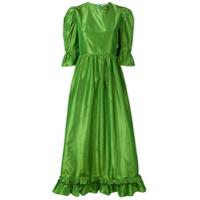 Batsheva Vestido Longo Com Manga Sino - Verde