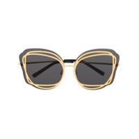 Linda Farrow Gallery Óculos De Sol Oversized Com Contraste - Dourado