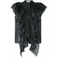 Alexandre Vauthier Camisa Com Aplicação De Cristais - Preto