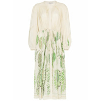 Three Graces Vestido Bordado 'x Zandra Rhodes Julienne' - Verde