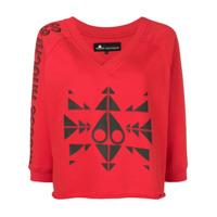 Moose Knuckles Blusa De Moletom Cropped Com Estampa - Vermelho