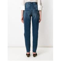 Emporio Armani Calça Mom Jeans - Azul