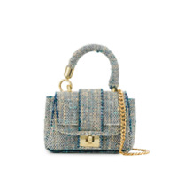Alila Mini Tweed Tote Bag - Azul