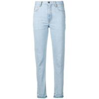 Marcelo Burlon County Of Milan Calça Jeans Cenoura Com Efeito Desgastado - Azul