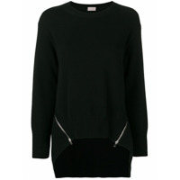 Mrz Knitted Zip Sweater - Preto