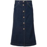 Goldsign Saia Jeans Midi - Azul